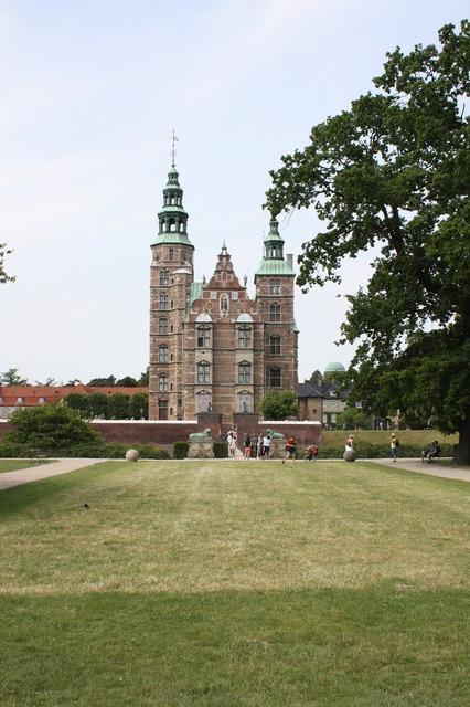 Rosenborg castle copenhagen capital, architecture buildings.