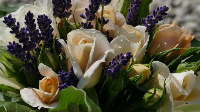 Roses lavender bouquet.