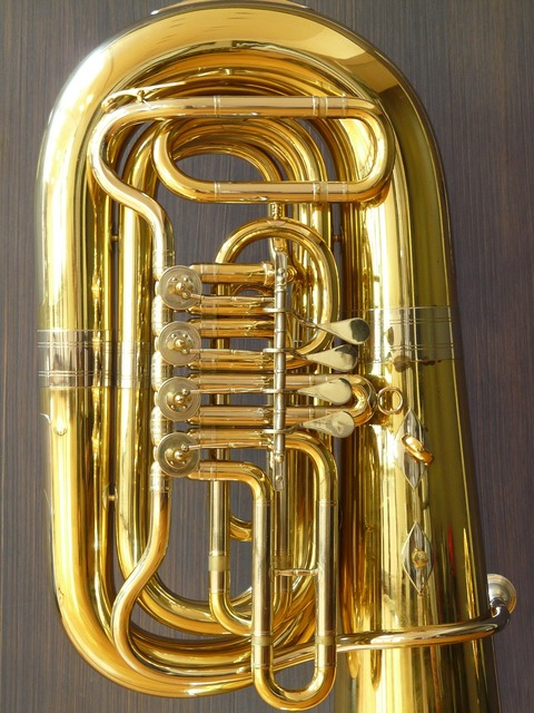 Rotary valves tuba valves, music.