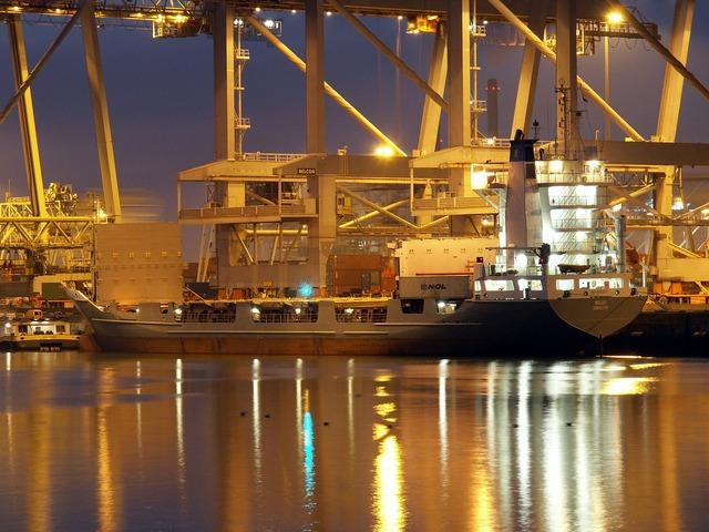 Rotterdam port harbor, industry craft.