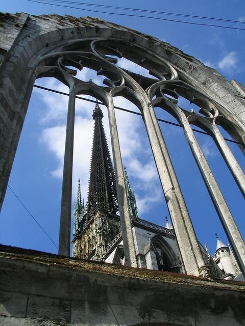Rouen cathedral building, architecture buildings.
