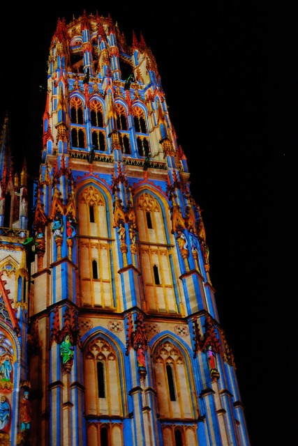 Rouen cathedral france, architecture buildings.
