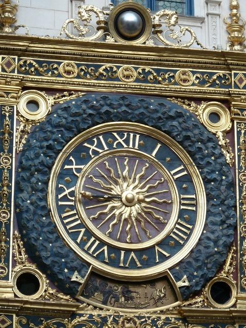 Rouen clock normandy.