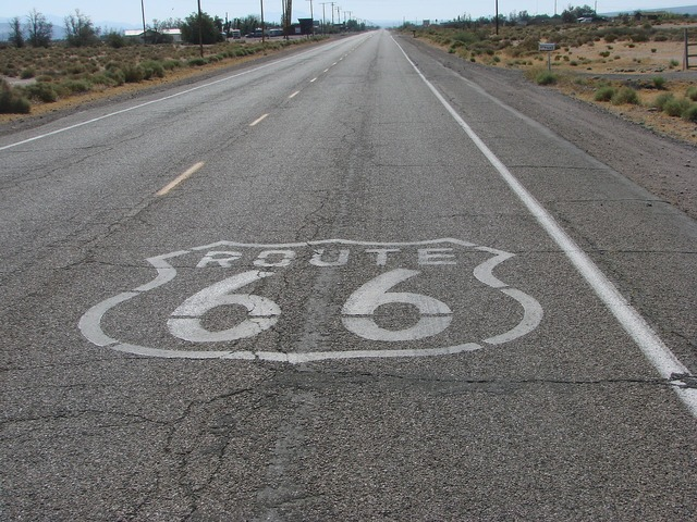 Route 66 road usa, transportation traffic.