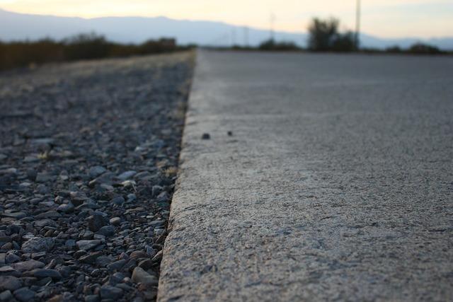 Route asphalt edge, transportation traffic.