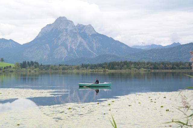 Rower lake mountains, nature landscapes.