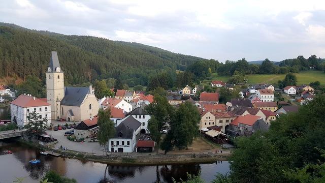 Rozmberk nad vltavou czech republic landscape, nature landscapes.