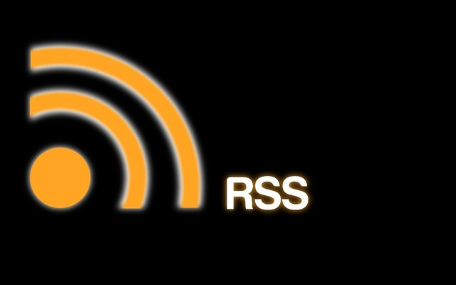 Rss icon feed, computer communication.