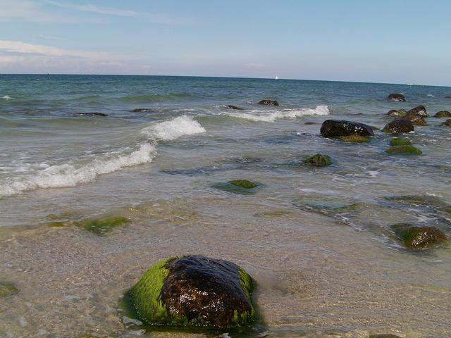 Rügen beach water, travel vacation.