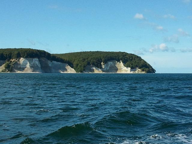 Rügen white cliffs baltic sea.