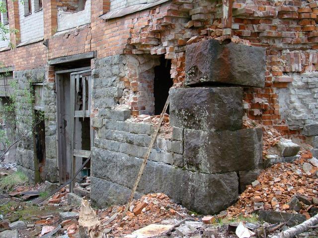 Ruin building bricks, architecture buildings.