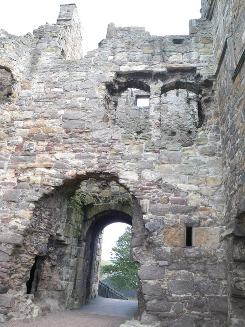Ruin castle fortification, places monuments.