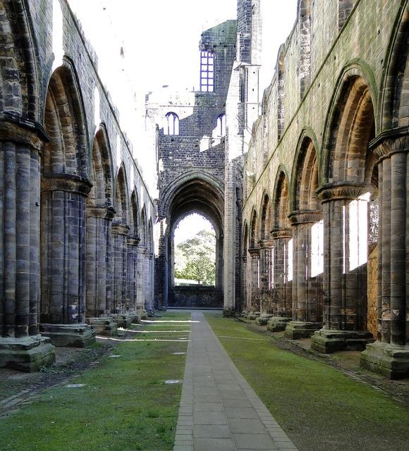 Ruin church england, religion.