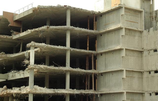 Ruin demolition building, architecture buildings.