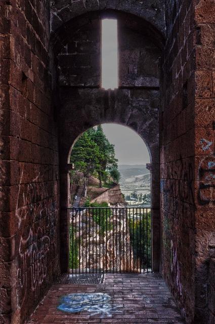 Ruins castle graffiti.