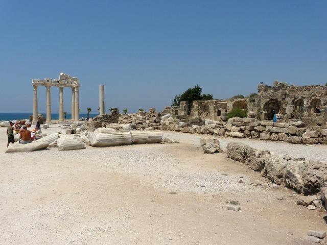 Ruins of side turkey antiquity, architecture buildings.