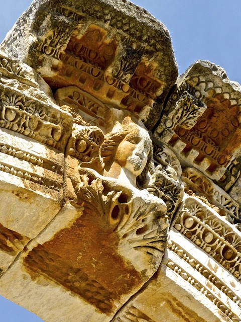 Ruins roman civilization, places monuments.