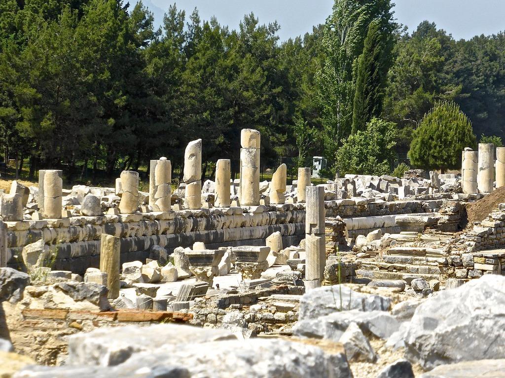 Ruins roman turkey, architecture buildings.
