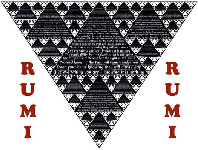Rumi wisdom triangles.