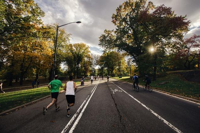 Running biking outdoor, transportation traffic.