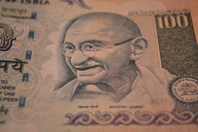 Rupees banknote mahatma gandhi, business finance.
