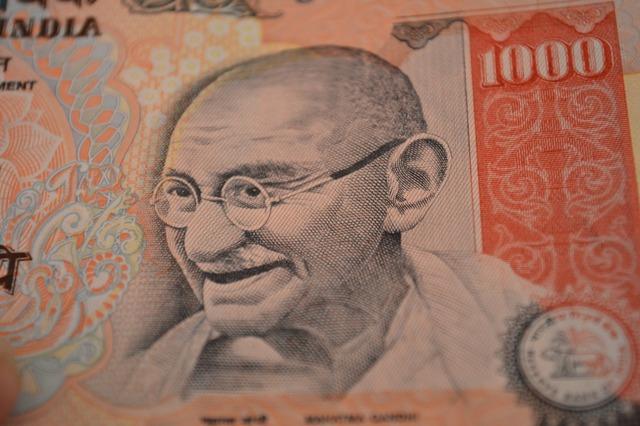 Rupees mahatma gandhi thousand, business finance.