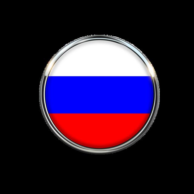 Russia flag circle.