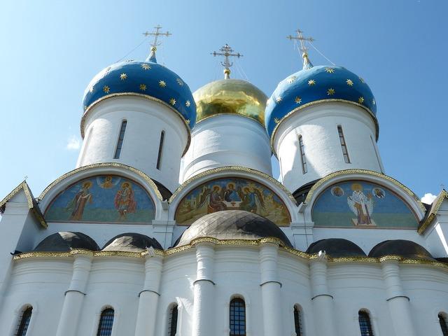 Russian orthodox church sergiev posad russia, religion.