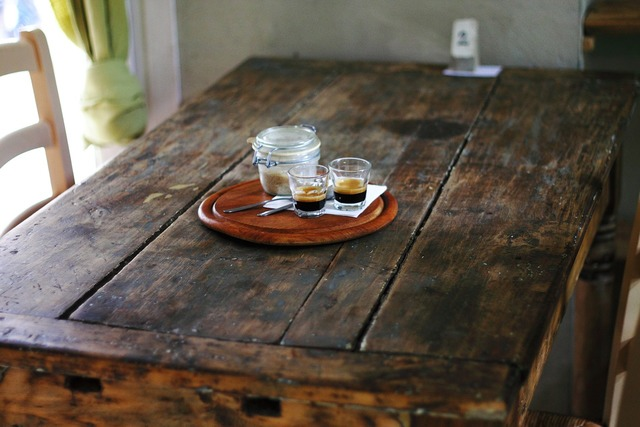 Rustic table wooden.