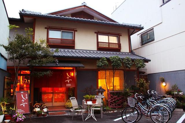 Ryokan traditional japanese house evening, travel vacation.