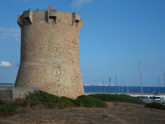 Sa rapita tower stone tower, travel vacation.