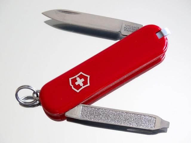 Sac diameter knife swiss cross.