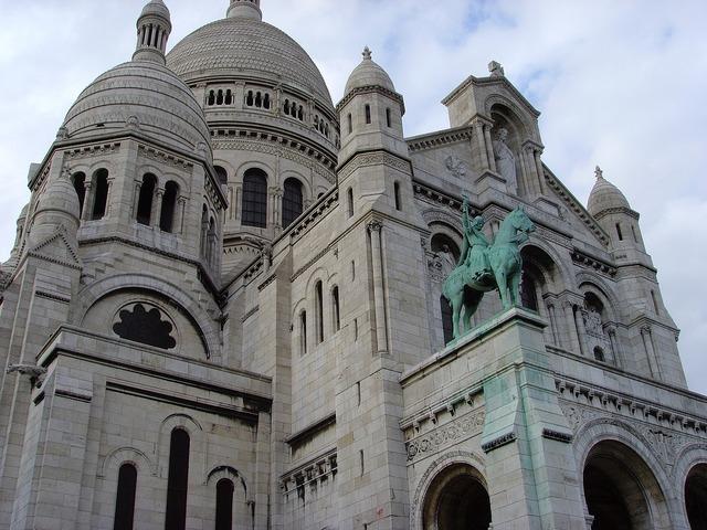 Sacre coeur basilica montmartre church, religion.