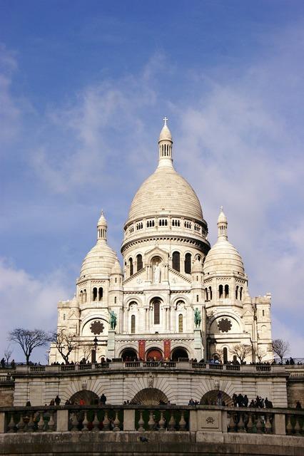 Sacred heart basilica paris, architecture buildings.