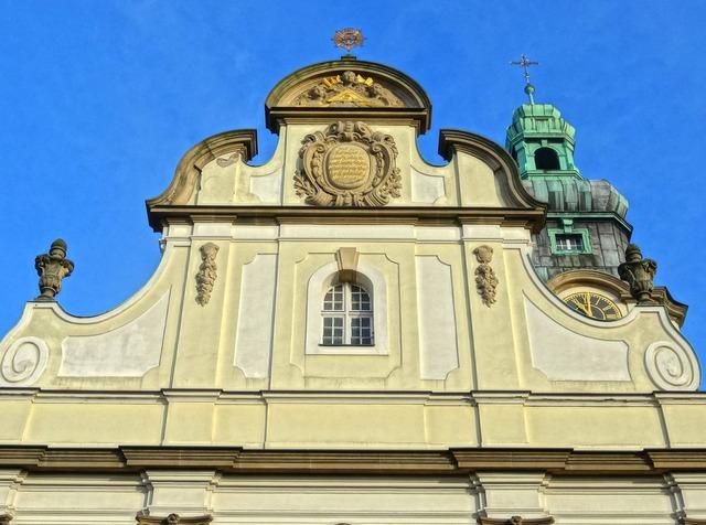 Sacred heart church bydgoszcz gable, architecture buildings.