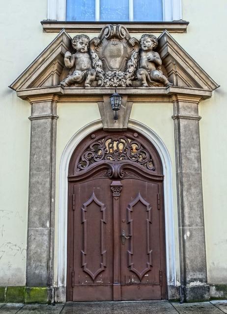 Sacred heart church bydgoszcz portal, architecture buildings.