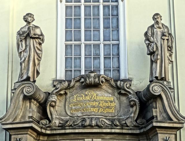Sacred heart church bydgoszcz sculptures, architecture buildings.