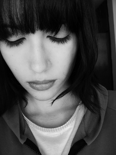 Sad woman sorrow, emotions.