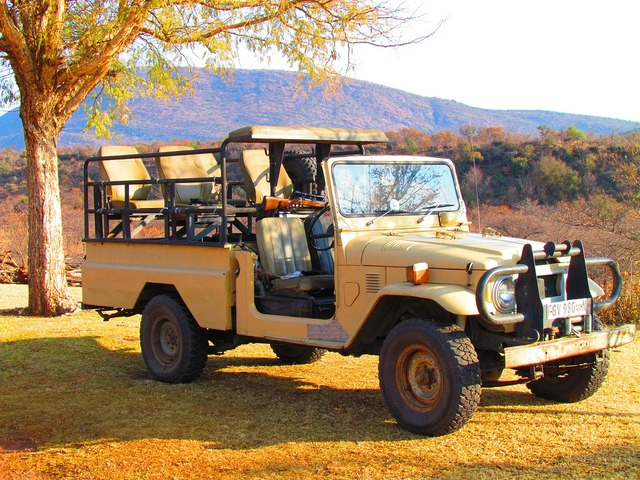 Safari jeep vehicle, transportation traffic.