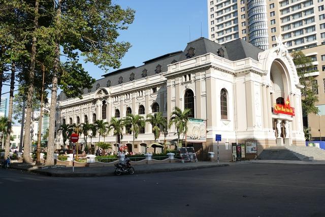 Saigon ho chi minh city vietnam opera, architecture buildings.