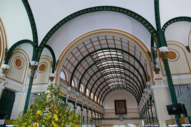 Saigon ho chi minh city vietnam post, architecture buildings.