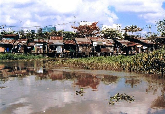 Saigon slums asia.