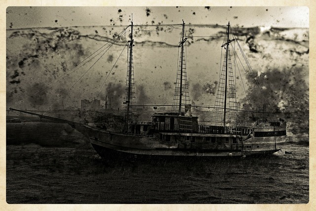 Sailing ship boat, backgrounds textures.