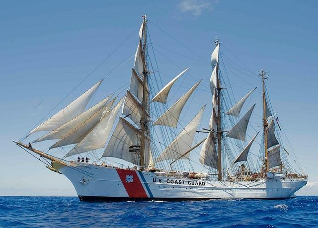 Sailing ship coast guard usa.