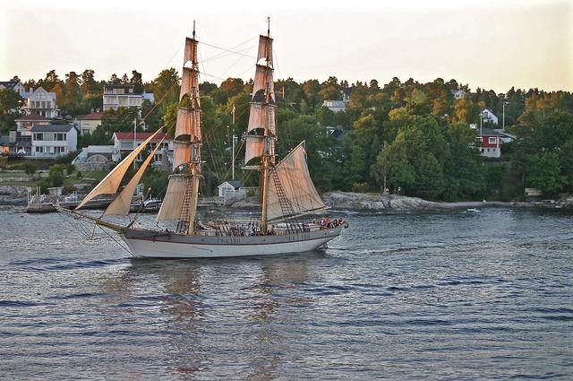 Sailing vessel archipelago sweden.