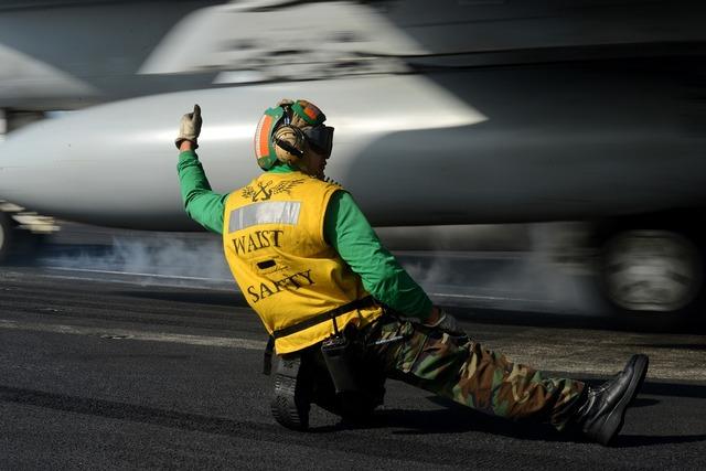Sailor signal launch.