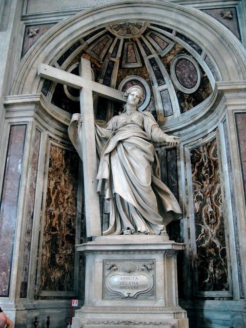 Saint helena statue rome saint-pierre basilica italy, religion.