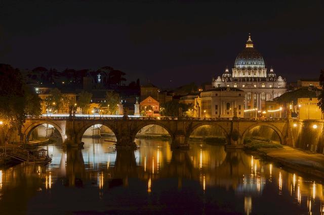 Saint peters basilica bridge sant' angelo, architecture buildings.