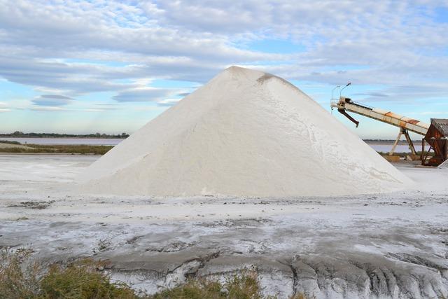 Saline salt salt mountain.