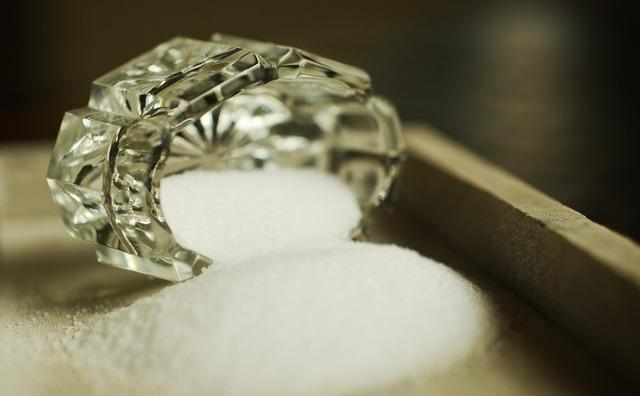 Salt crystal salt shaker.